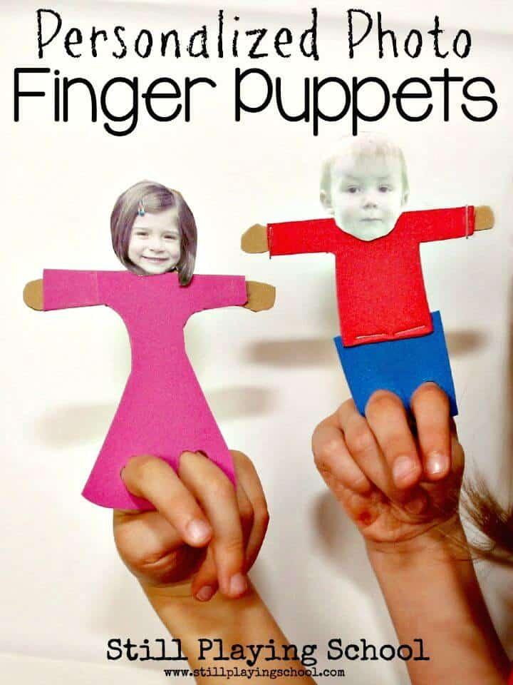 Marionetas de dedo con fotos personalizadas para niños