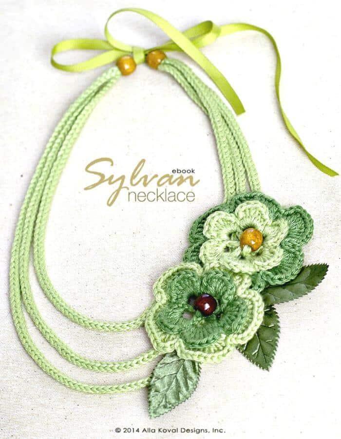 Patrón de collar de ganchillo gratis Sylvan para niños y adultos