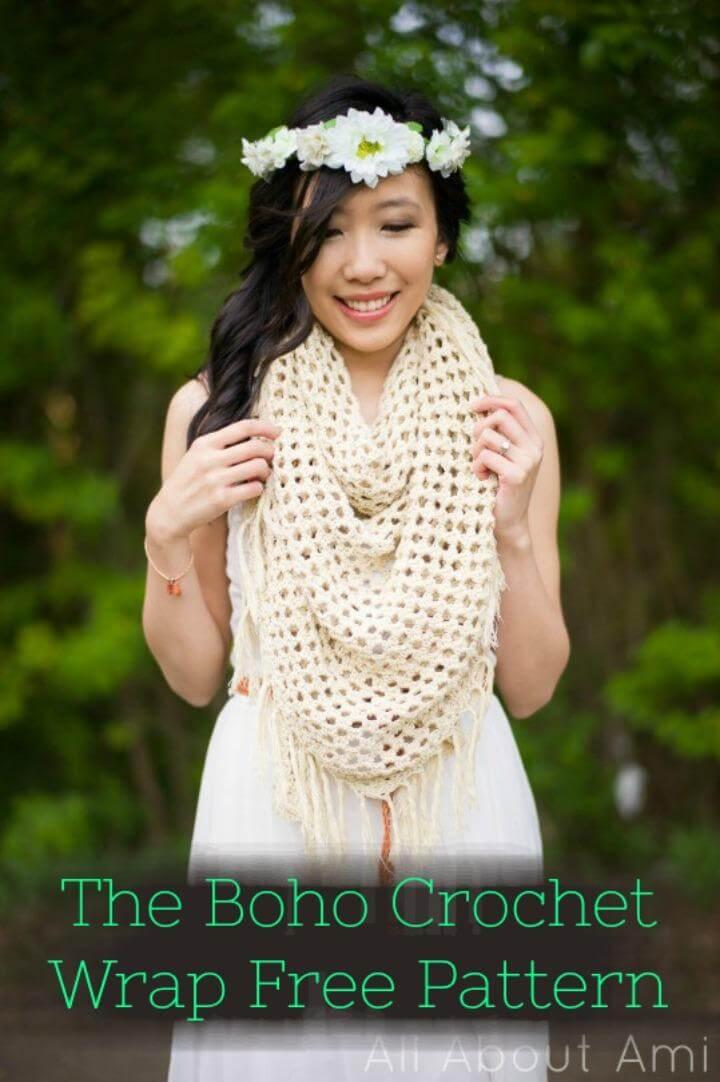 El patrón sin envoltura de crochet boho