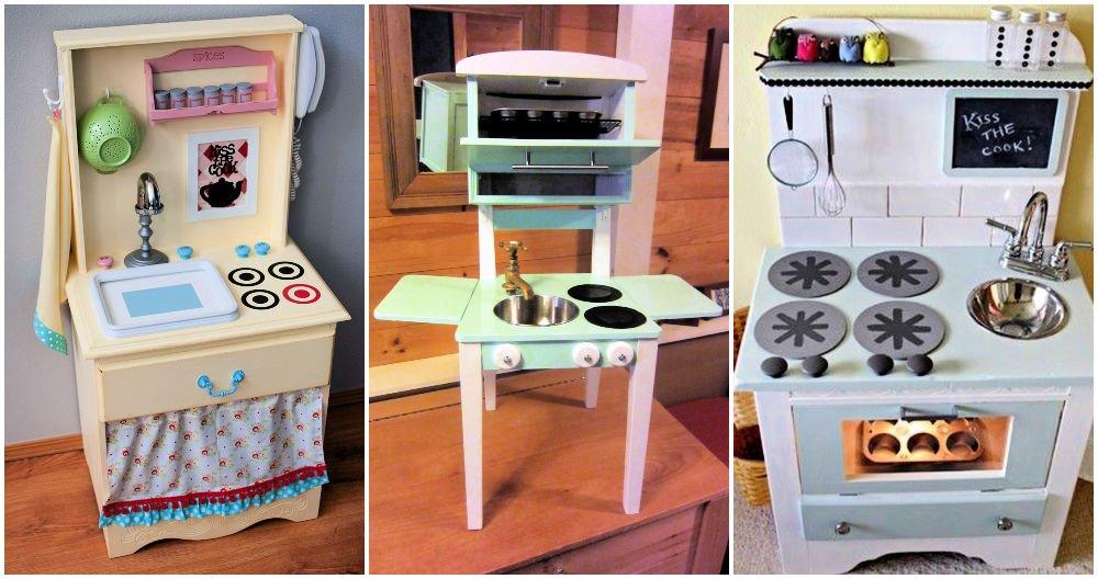 Ideas únicas de cocina de juego de bricolaje