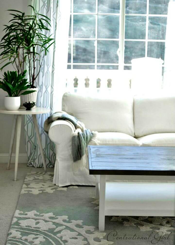 Mesa de centro gris degradada de bricolaje - Tutorial gratuito