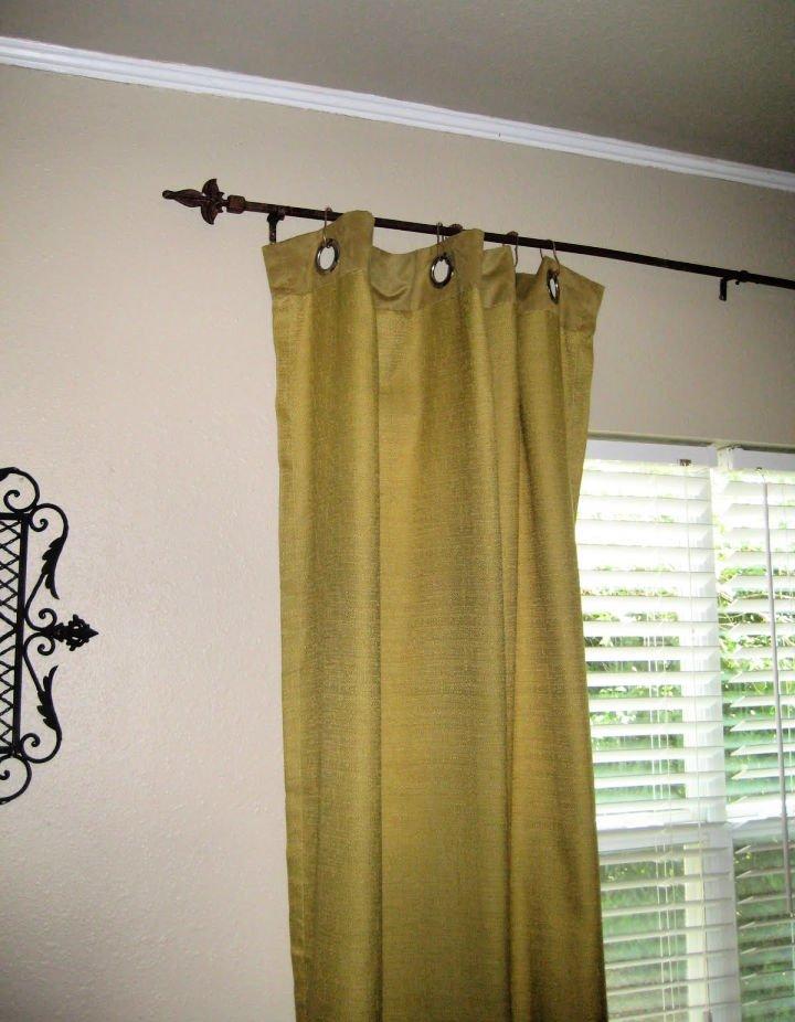 Barras de cortina de riel de cerca soldadas