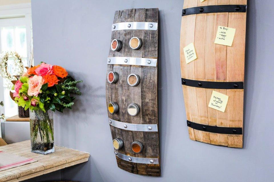 Estante de especias de barril de vino