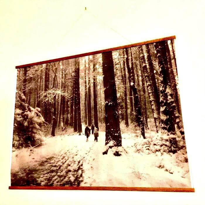 rieles de madera para carteles