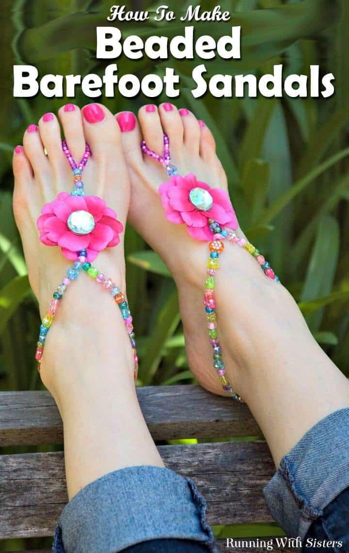 Cómo hacer sandalias descalzas con cuentas de verano