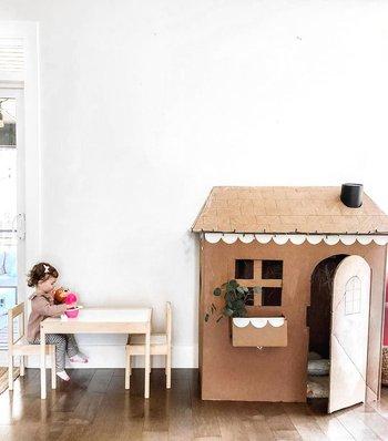 casa de cartón para niños cualquiera puede hacer bricolaje