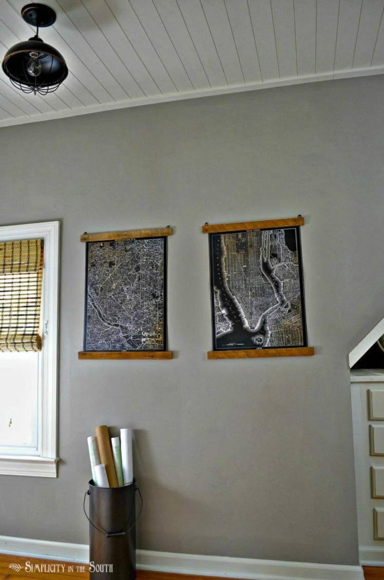 colgadores de carteles de madera baratos y fáciles de bricolaje