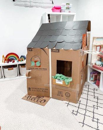 crea tu propia plantilla de casa de cartón