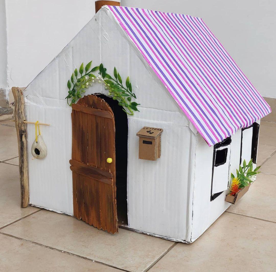 casa de barbie de cartón diy