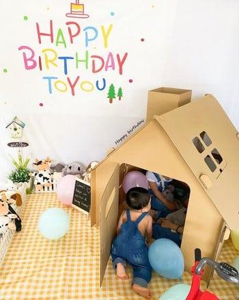 casa de gato de cartón para niños que es fácil de hacer