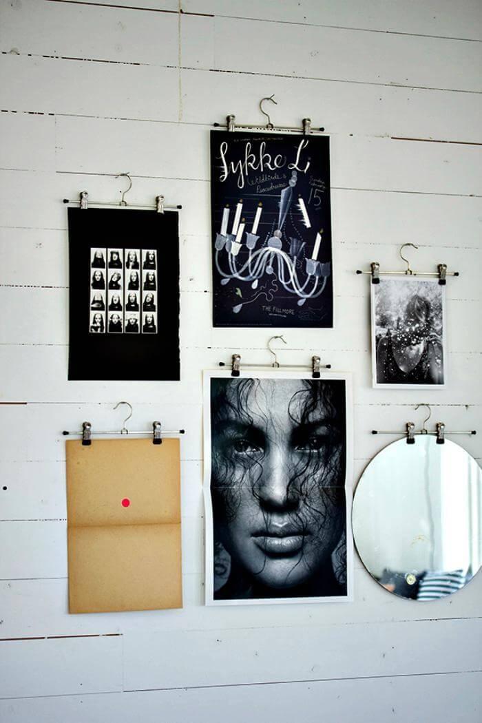 Colgador de póster personalizado de bricolaje