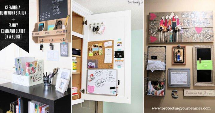 ideas del centro de comando familiar de bricolaje
