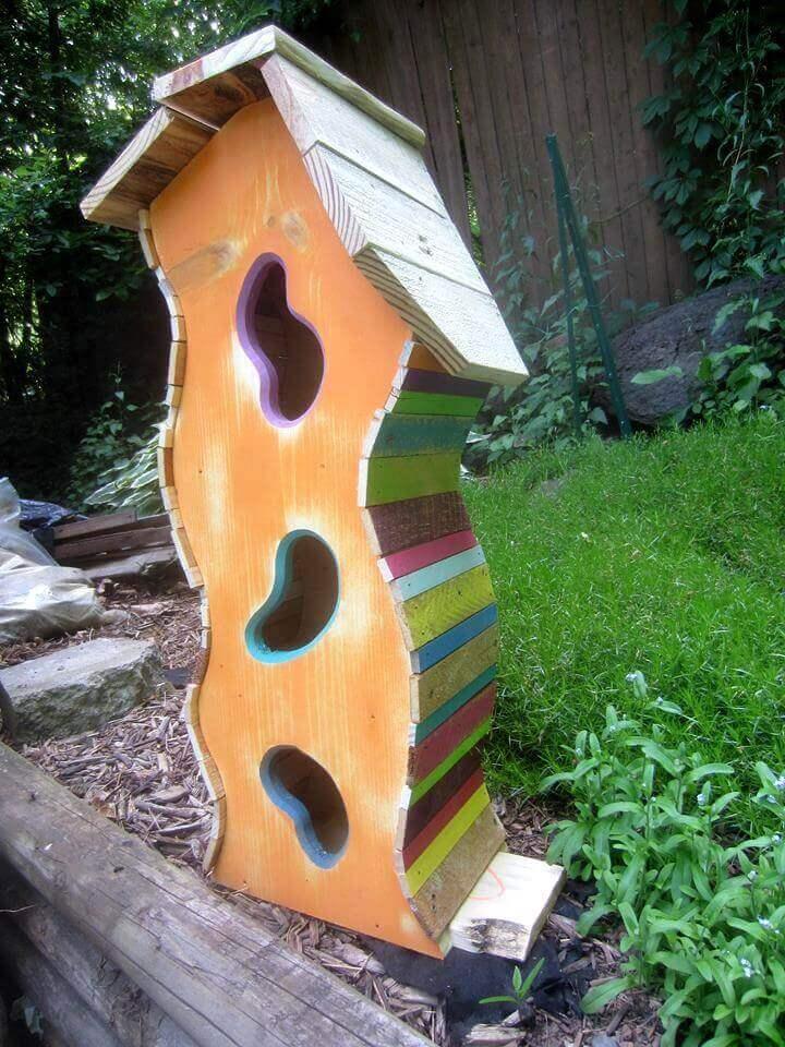 paleta hecha linda casa de pájaros