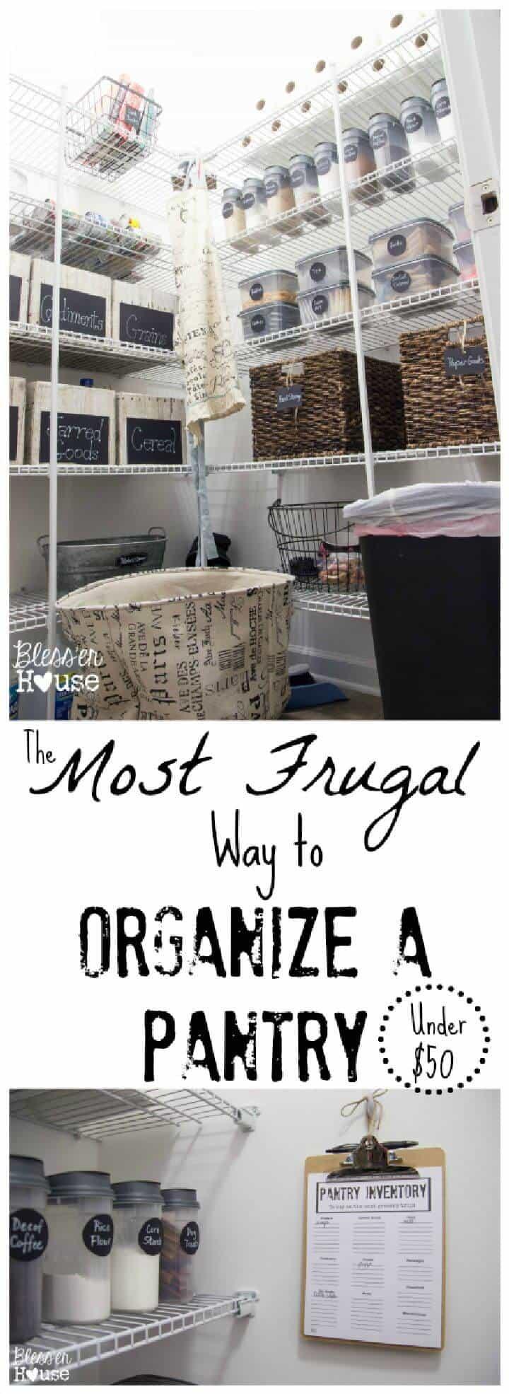 La forma más frugal de organizar una despensa