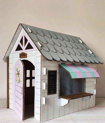 cómo hacer una casa de cartón para un proyecto escolar