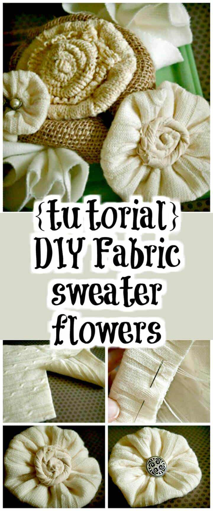 suéter de tela hecho a mano flores